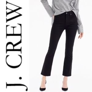 J. Crew Billie Demi Boot Cut Crop Jean in Black 32